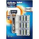 Gillette Fusion ProGlide Rasoio da Uomo con 9 Lame di Ricarica
