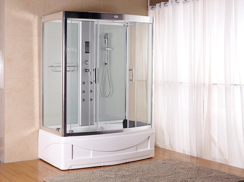 Luxury KBM 9001 Pure White Bathtub Faucet, Steam Shower Enclosure ...
