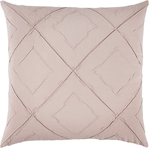 Rizzy Home T13200 Decorative Pillow, 20 X20 , Pink Neutral Red