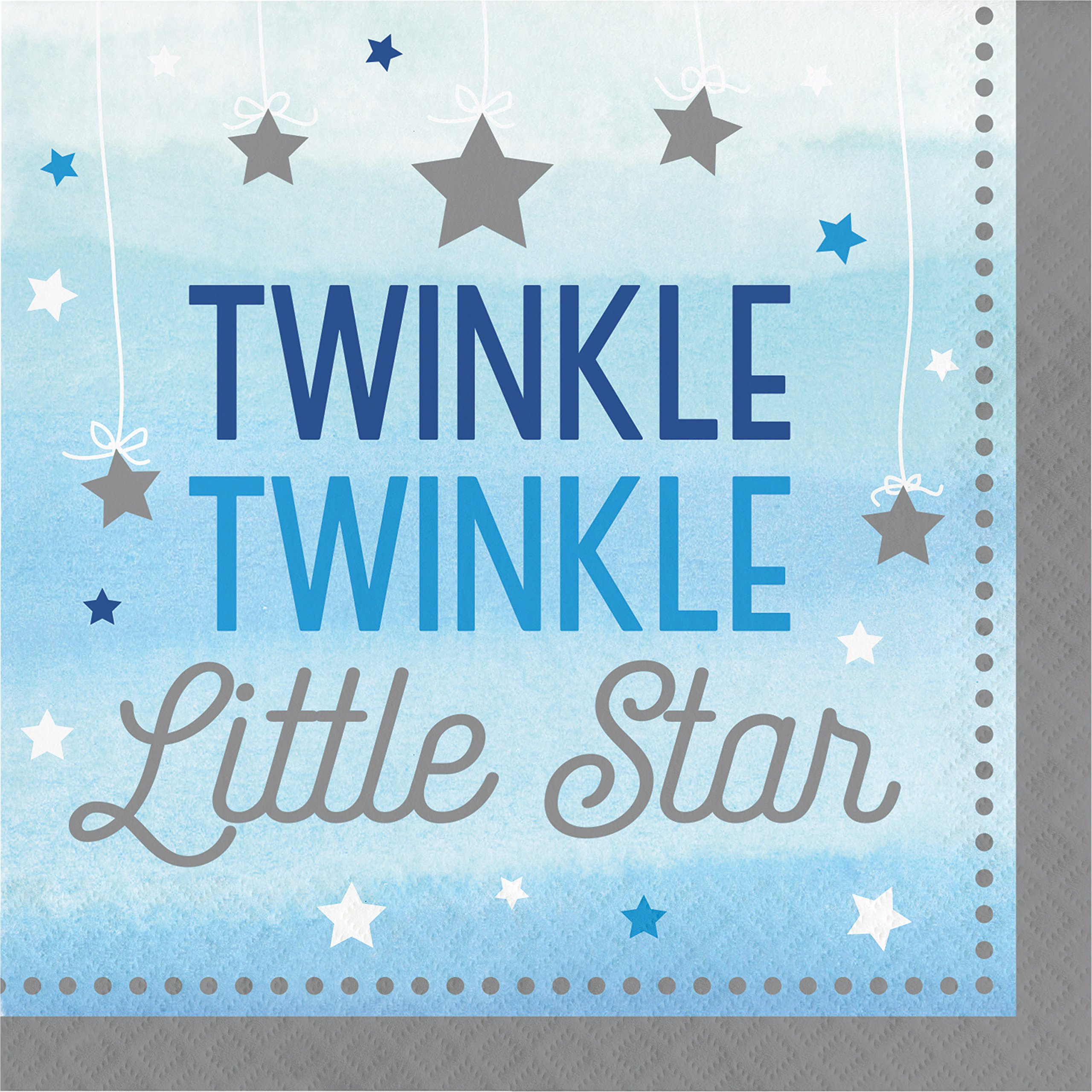 One Little Star Boy Napkins, 48 ct by Creative Converting