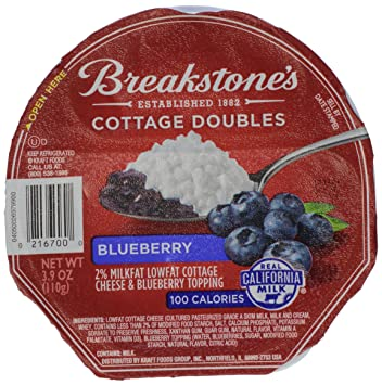 breakstone blueberry cottage cheese doubles 3 9 oz amazon com
