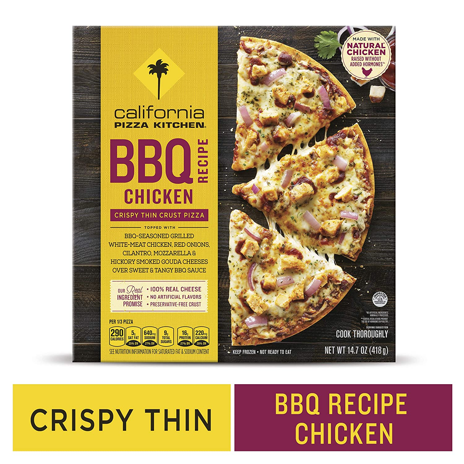 California pizza kitchen crispy thin crust frozen pizza bbq recipe chicken 14 7 oz amazon com grocery gourmet food