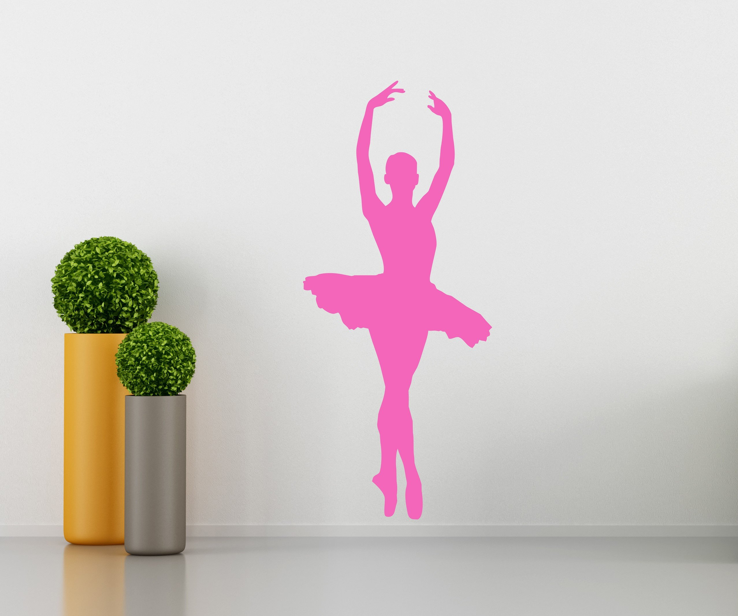 Ballet Wall Decal - Girls Kids Room Décor - Nursery Wall Decal - Bailarina Wall Décor - Dancer Wall Decal - Perfect for a Gift (18''W X 41''H)