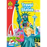 School Zone - Travel the Great States Workbook - 64 Pages, Ages 8 and Up, Geography, Maps, United States, and More…