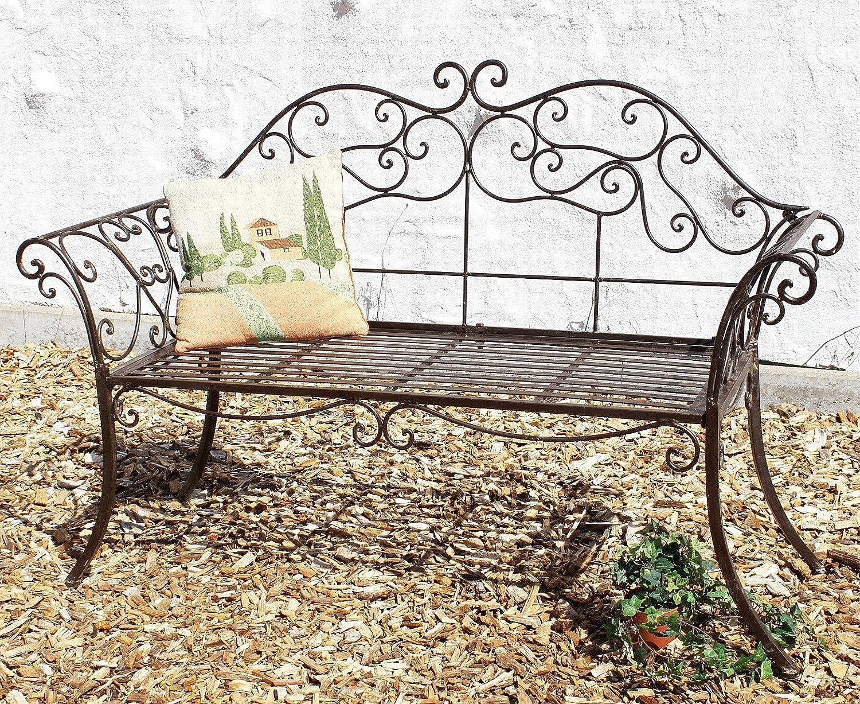 DanDiBo Banc de jardin Romance Blanc 111183 Banc 146cm en ...