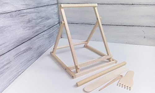 Tapestry Looms for Adults Frame Weaving Loom with Stand Weave Table Top Looms Tools 7 x 9 inches