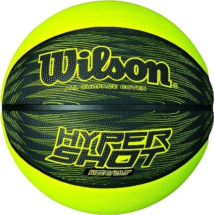 Wilson Hyper Shot I Balón, Negro/Lima, 7: Amazon.es: Deportes y ...