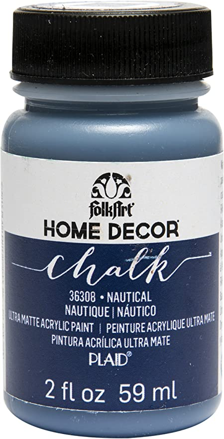 Amazon Com Folkart 36308 Home Decor Chalk Furniture Craft Paint In Assorted Colors 2 Ounce Nautical