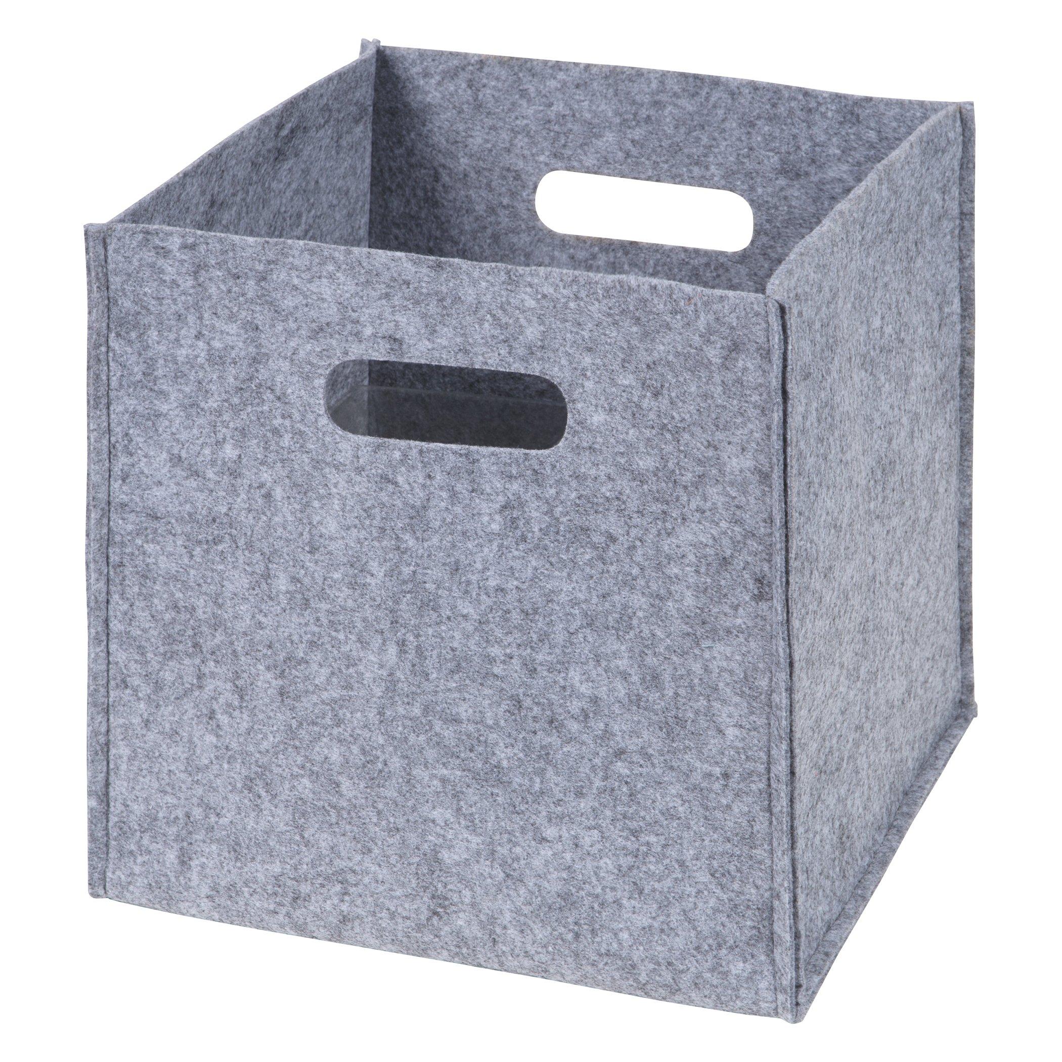Sammy & Lou Felt Storage Cube, Gray