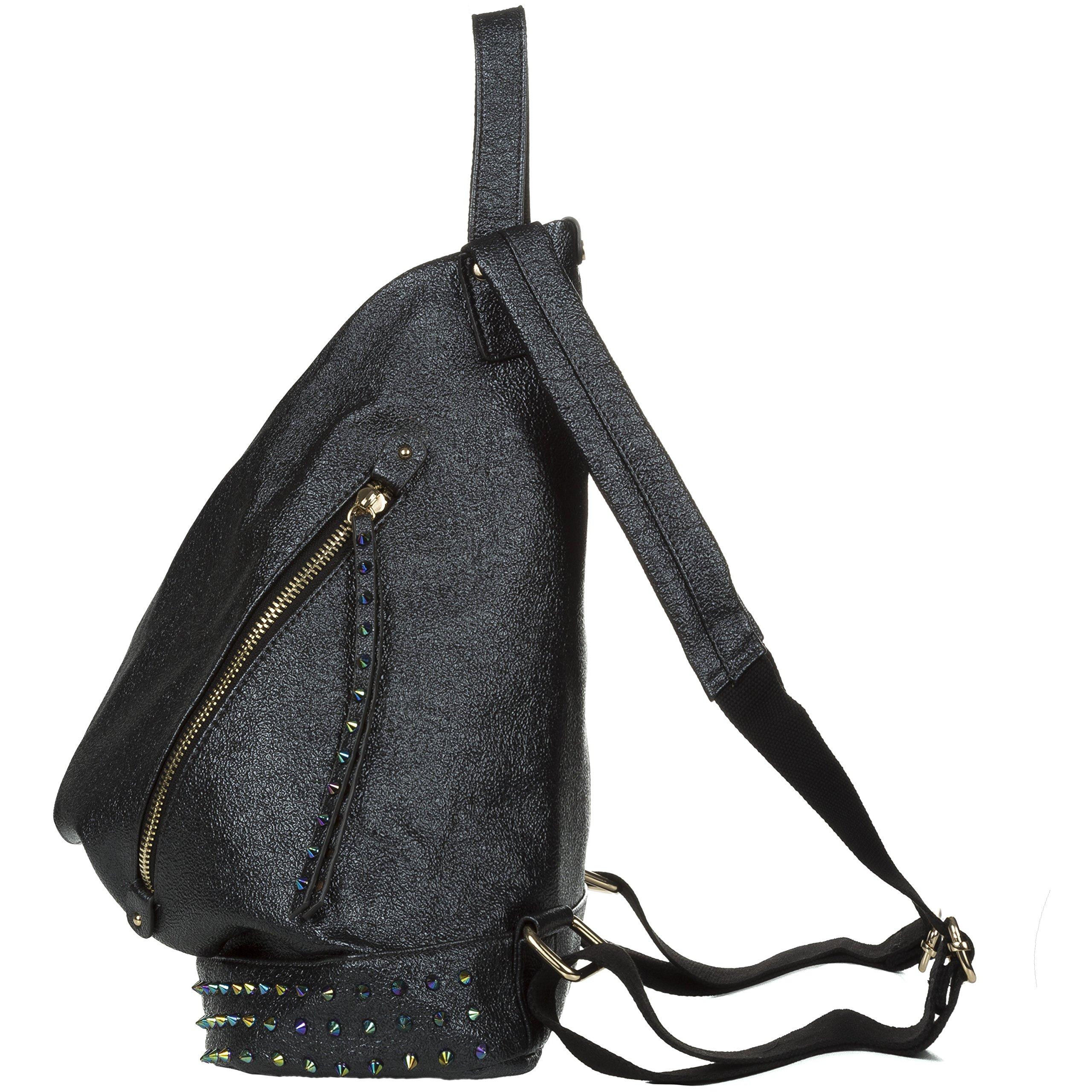 Handbag Republic Fashion Backpack Vegan Leather Travel Bag Easy Carry For Women by Handbag Republic (Image #3)