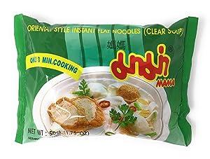 Instant Flat Noodle Soup, 1.75 oz. Packets (Set of 10) (Clear Soup)