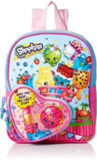 Shopkins Girls 10 Inch Mini Backpack Heart Shaped Pocket, Pink, ...