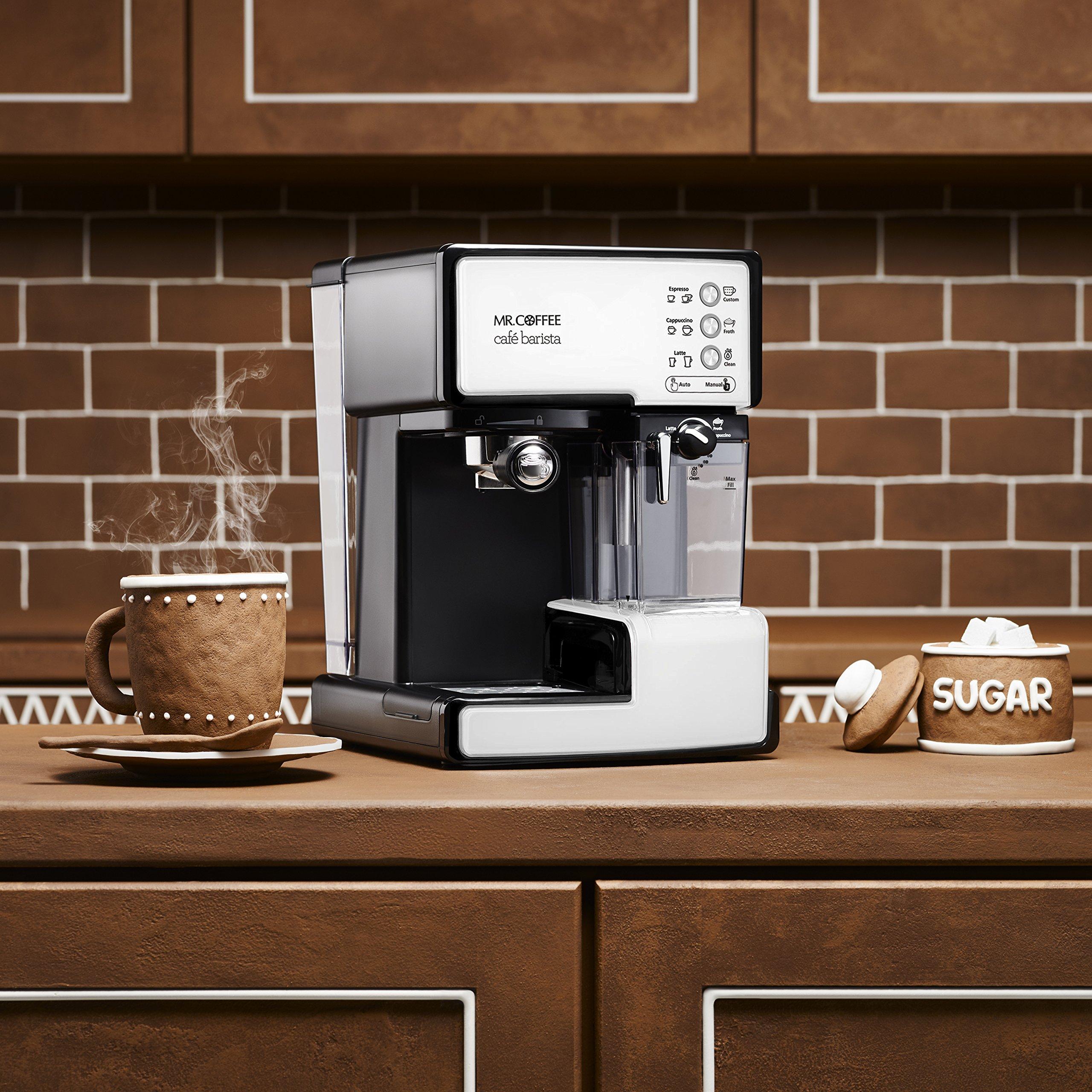 Mr. Coffee BVMC-ECMP1102 Cafe Barista Espresso Maker Machine,  White by Mr. Coffee (Image #5)