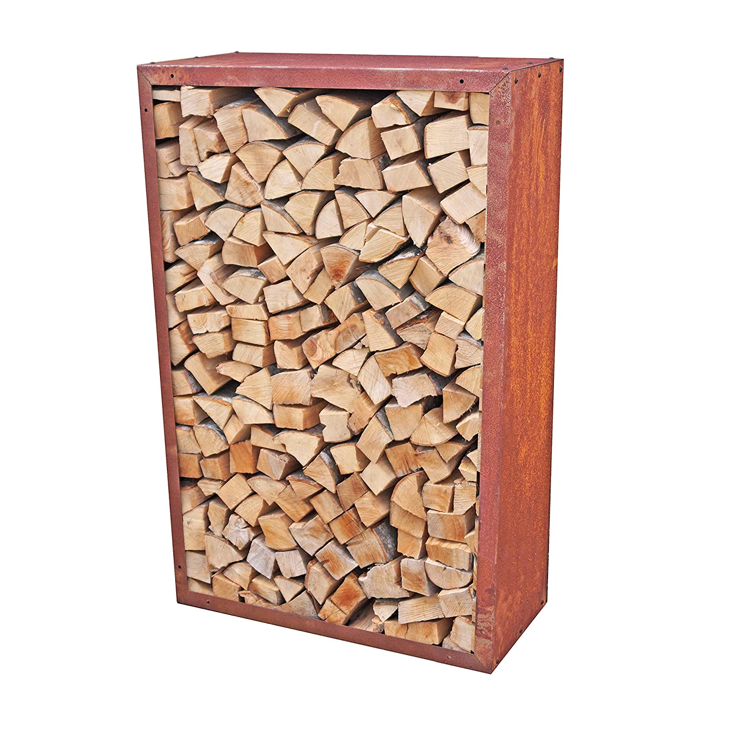 firewood rack prima terra infinita patina length 15.0 in. width 15.0 in. depth 11.8 in.