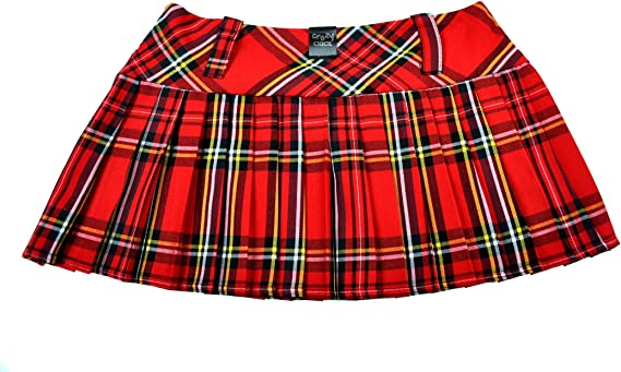 Crazy Chick - Mini falda para mujer con diseño de tartán en aroma ...
