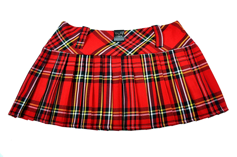 20a2b544fb Crazy Chick Tartan Micro Mini Skirt 9in Length(23cm): Amazon.co.uk: Clothing