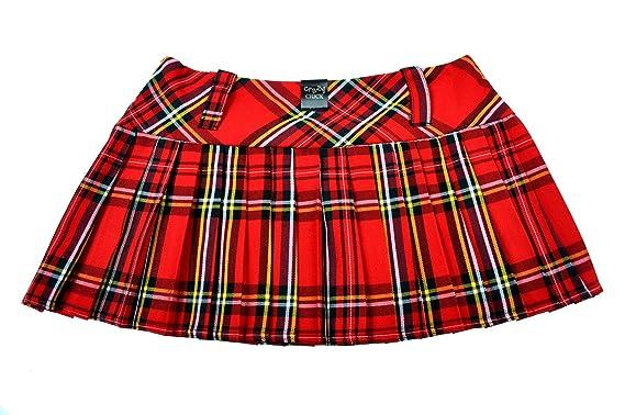 3142080c00 Crazy Chick Tartan Micro Mini Skirt 9in Length(23cm): Amazon.co.uk: Clothing
