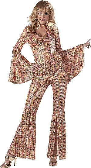 Disfraz Disco brillante mujer L: Amazon.es: Juguetes y juegos