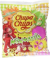 Chupa Chups Sachet de 16 Sucettes Mixmania 192 g - Lot de 8