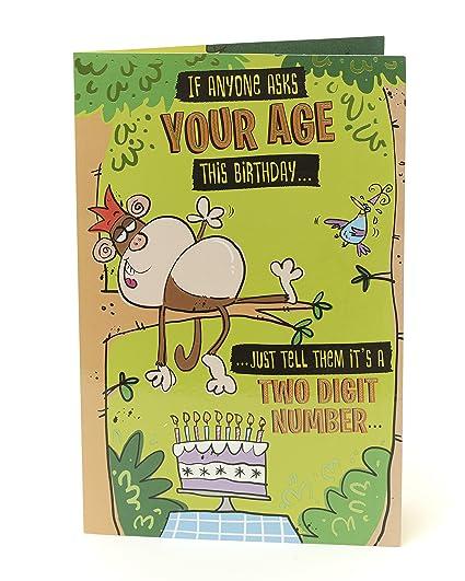 Amazon Funny Humorous Birthday Card Rude Monkey Office