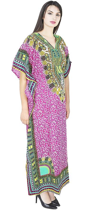 SKAVIJ Maxi Length Caftan pour Femmes Dashiki Caftan Chemise de Nuit Grande  Taille  Amazon. f11d7790b78