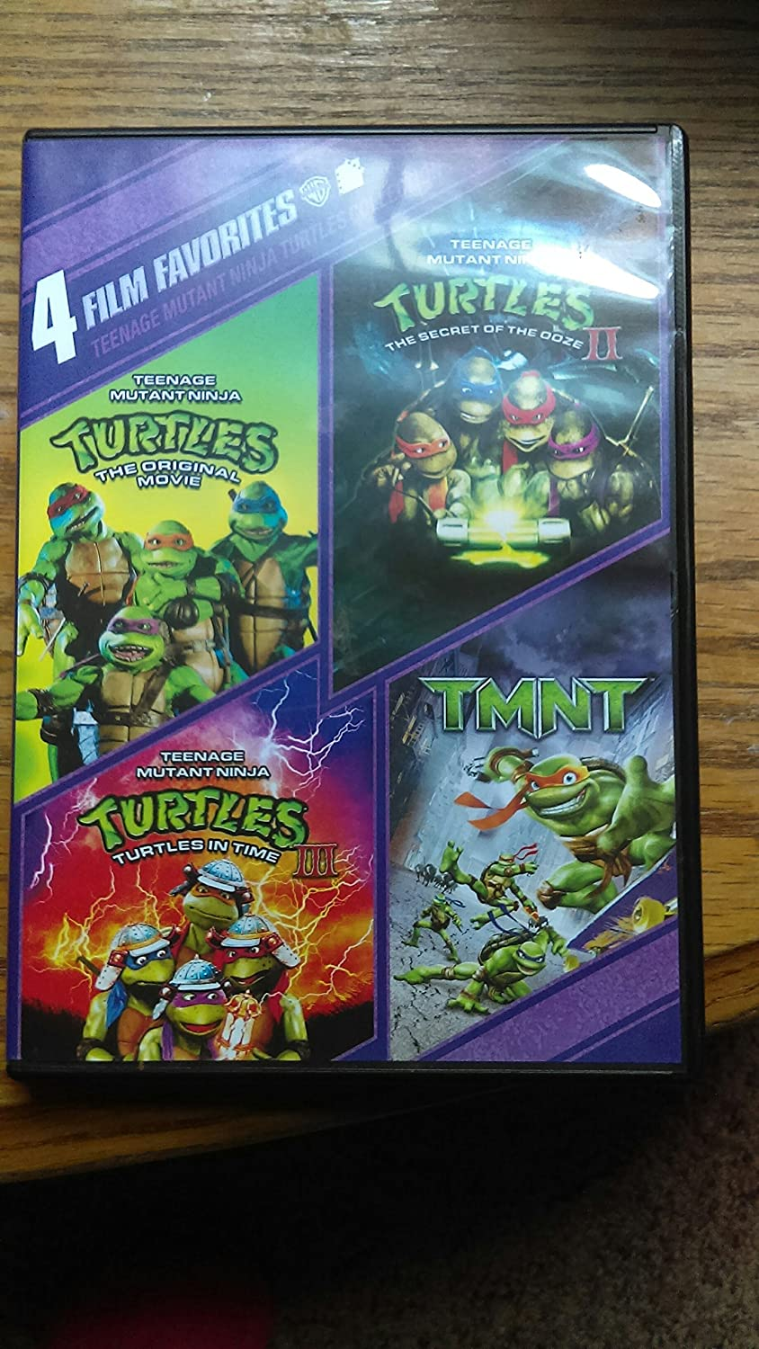 4 Film Favorites: Teenage Mutant Ninja Turtles USA DVD ...