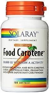 Solaray Food Carotene Capsules, 10000IU, 100 Count