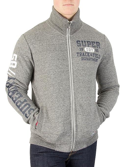 Superdry Hombre Chaqueta de chándal Trackster, Gris, XX-Large ...