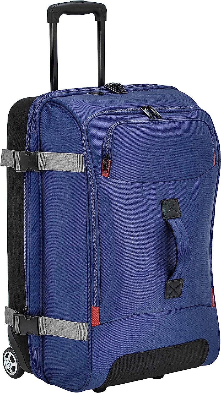 AmazonBasics – Bolsa de viaje Mediano con ruedas, Azul