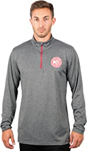 Ultra Game Men's Quarter Zip Pullover Long Sleeve Tee