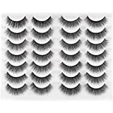 Newcally Lashes False Eyelashes Natural Fluffy Light Volume Faux Mink Lashes 14 Pairs Pack