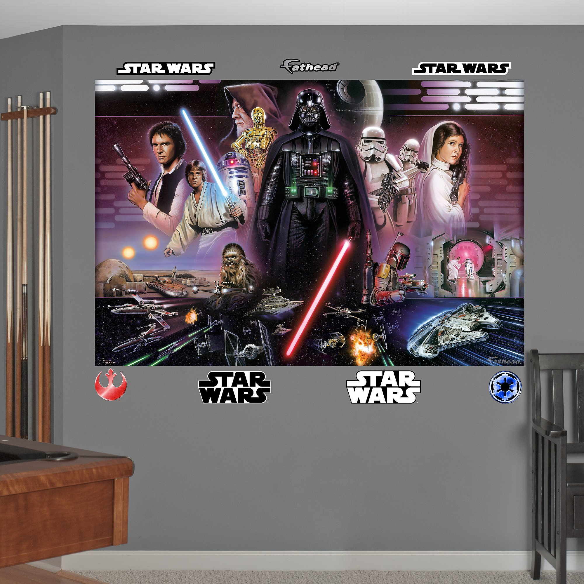 FATHEAD Star Wars Classic Mural Graphic Wall Décor