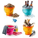 Foldable Pail Bucket Collapsible Buckets Multi