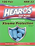 HEAROS XTREME 100 Pair Foam EAR PLUGS With NRR 33 Noise Canceling Hearing Protection
