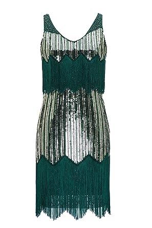 NWT Size 16 Vintage 20s Gatsby Flapper Charleston Style Sequin Beaded Dress EU44
