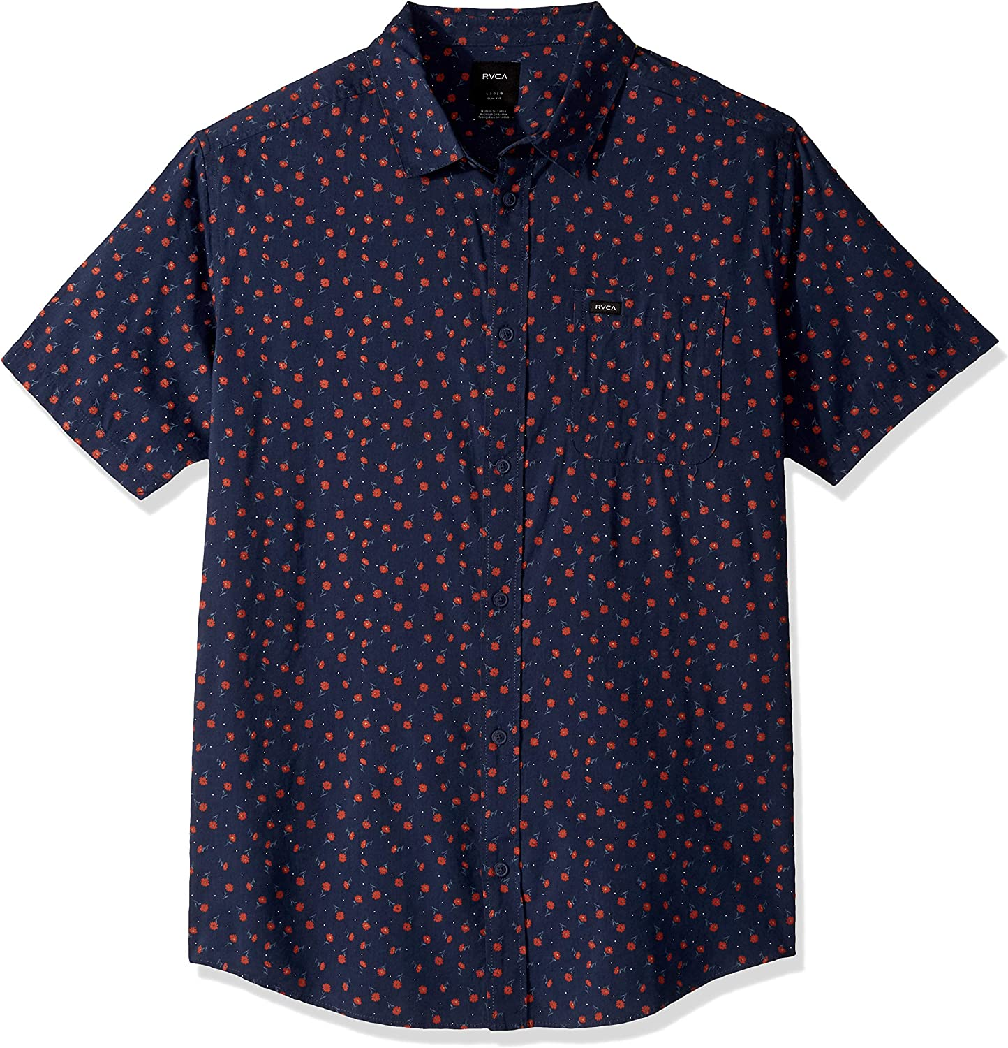 RVCA Men's Prelude Floral Button-Up Shirt