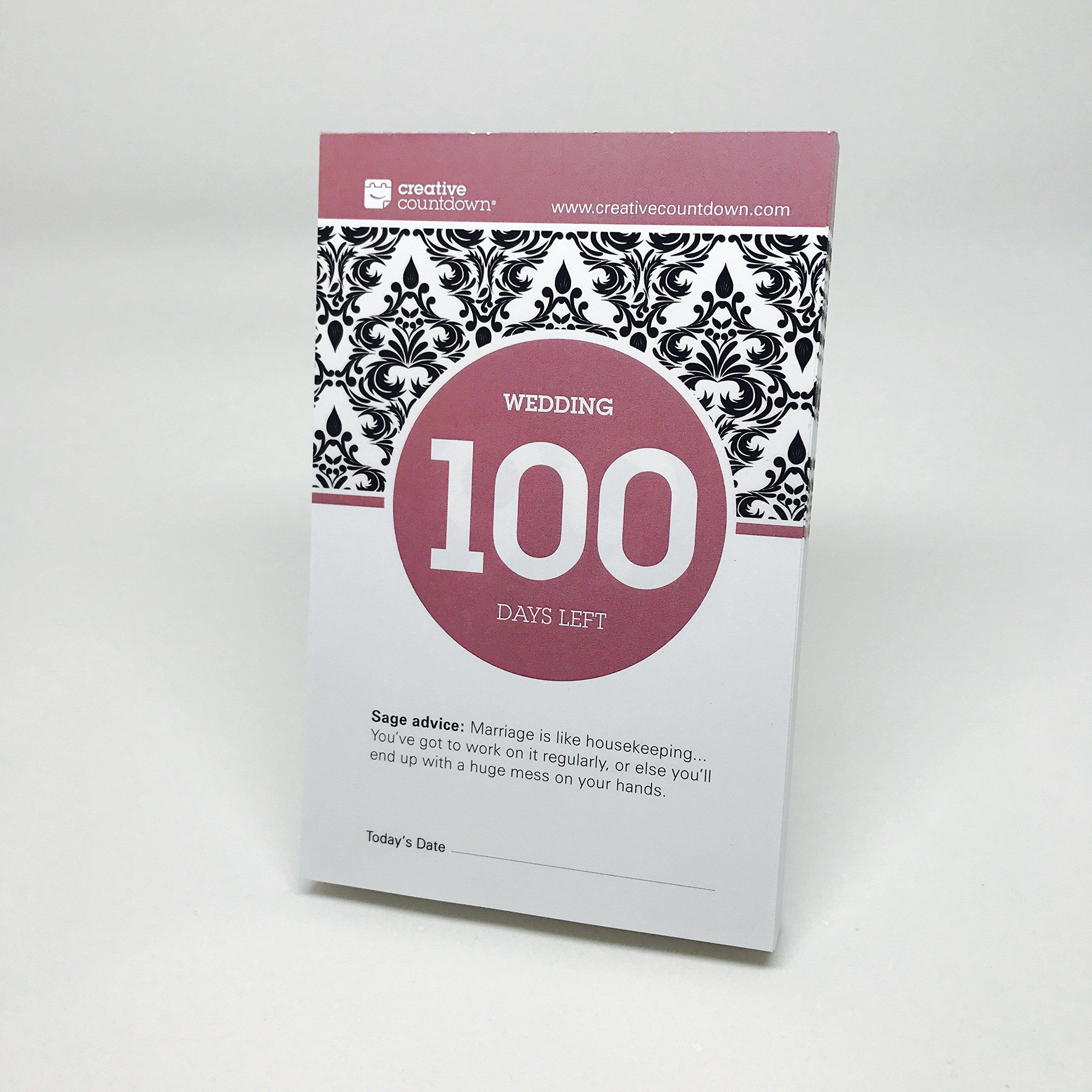 100-day Wedding Countdown tear-off calendar