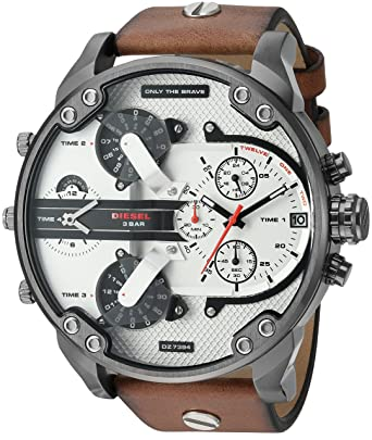 1a2b443f7 Image Unavailable. Image not available for. Colour: Diesel Analog White  Dial Men's Watch-DZ7394