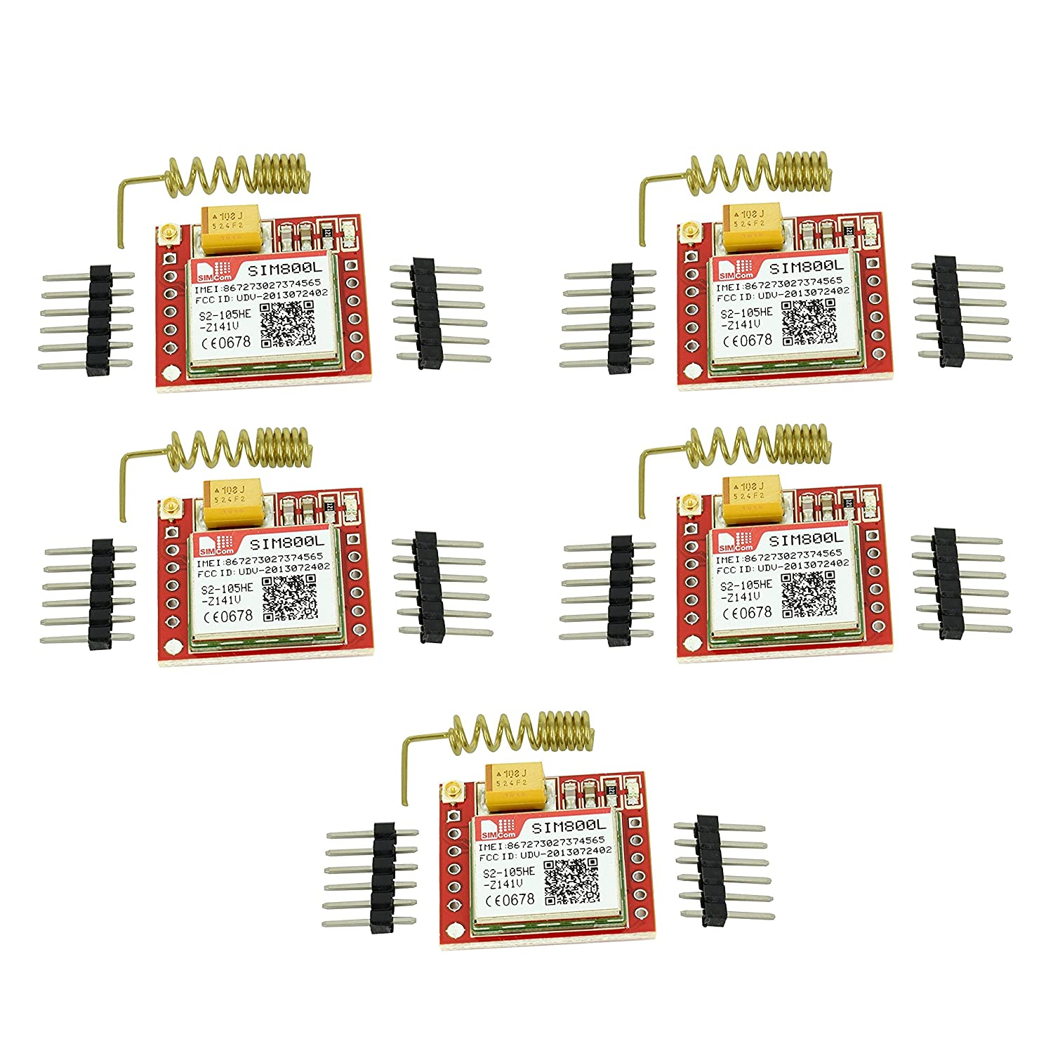 5pcs SIM800L Quad-Band GSM GPRS Module with PCB Antenna from Optimus