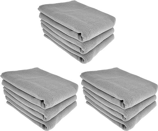 9 x – Trapo/Paño de cocina y gamuza de limpieza/100% algodón en gris: Amazon.es: Hogar