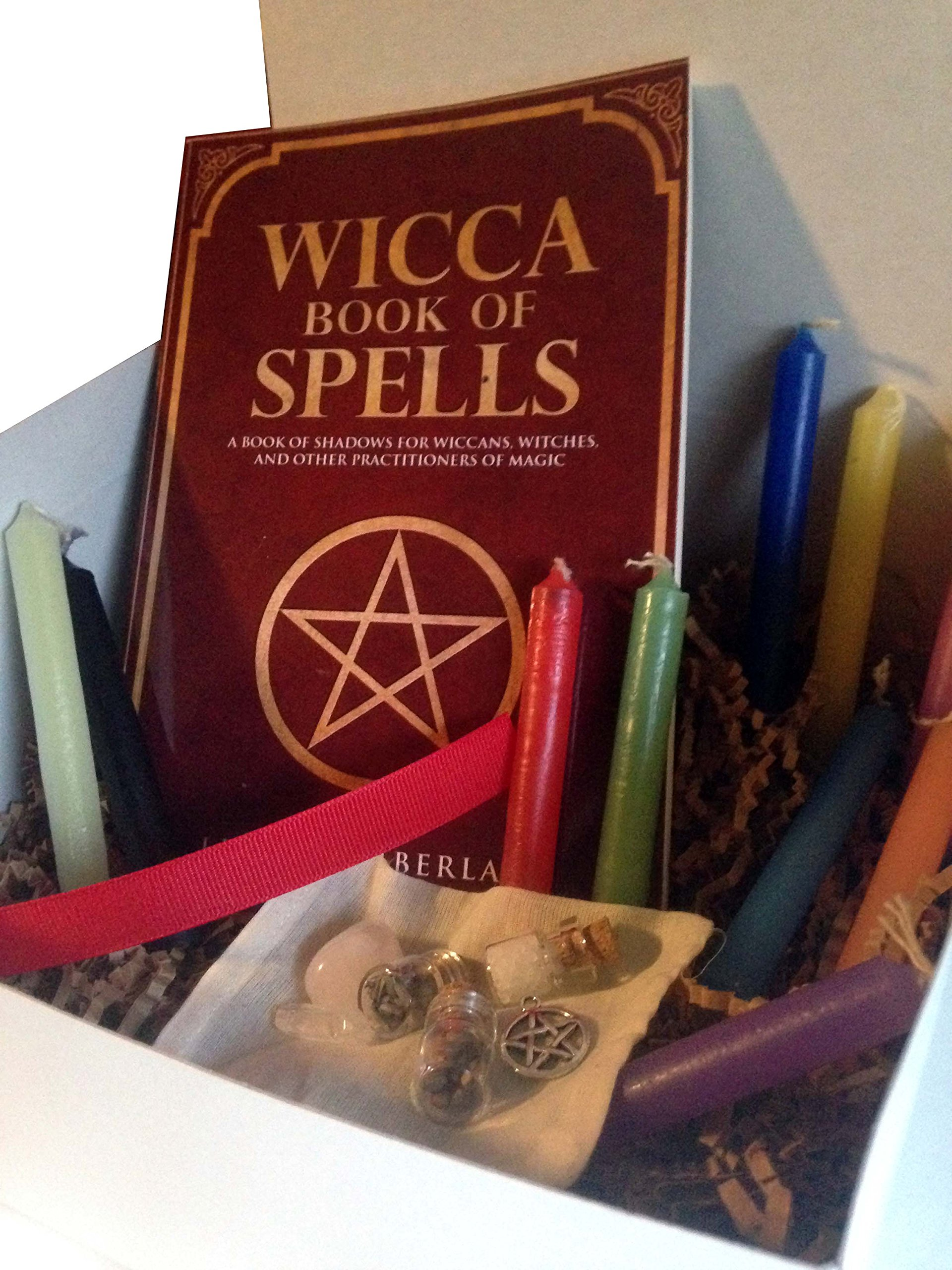 Pagan Wicca Witchcraft Charm Supplies Starter Gift Box Kit for Beginners by Pine Pentagram