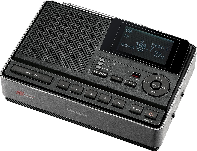 Sangean CL-100 Table-Top Weather Hazard Alert with AM/FM-RBDS Alarm Clock Radio Sangean - CA