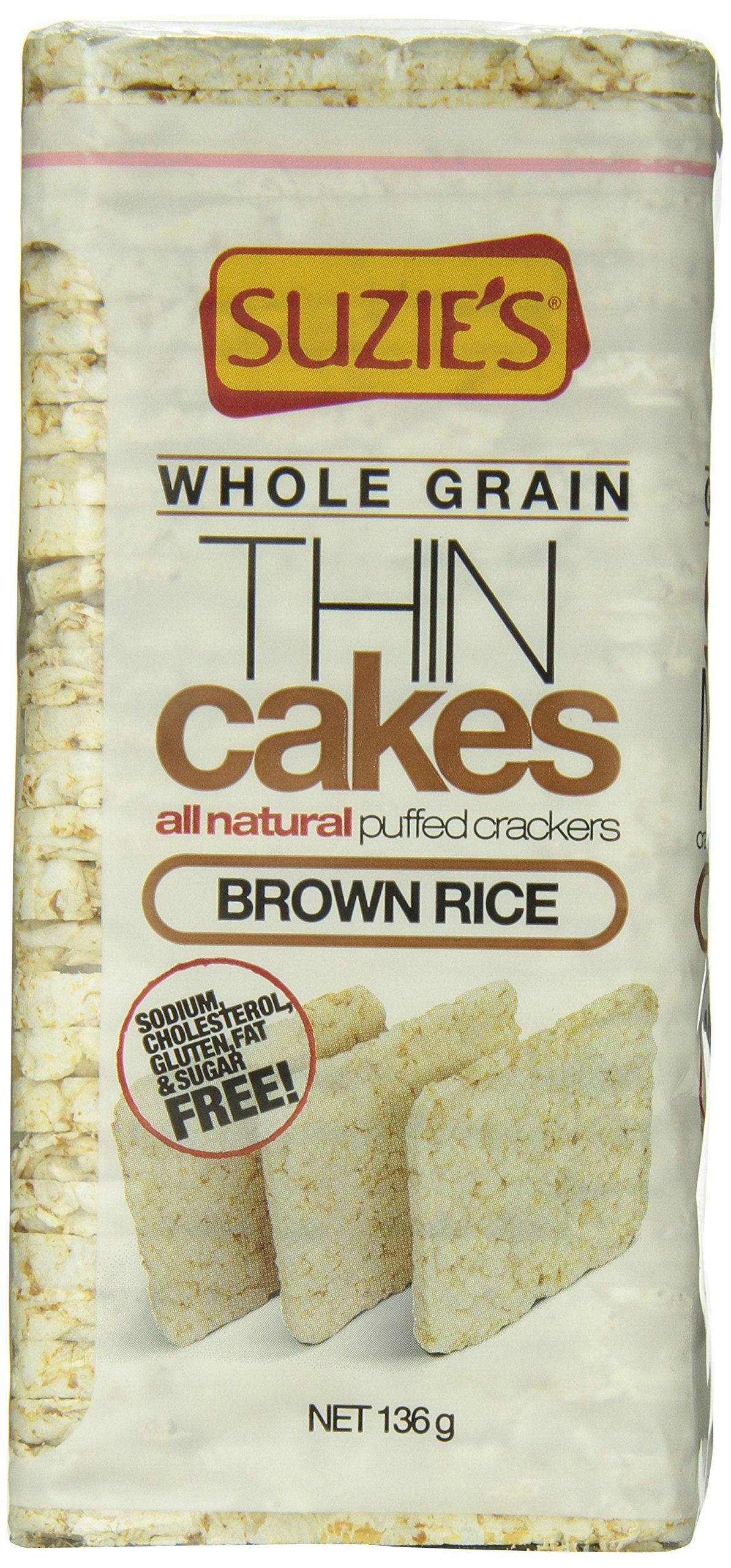Suzie's Whole Grain Thin Cakes Brown Rice, 4.9 Ounce