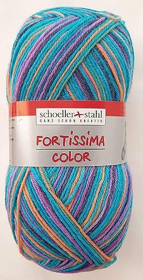 Schoeller y Acero Forti ssima Color Calcetines Lana de 75% Lana Virgen (Superwash - Ovillo), 25% Poliamida: Amazon.es: Juguetes y juegos