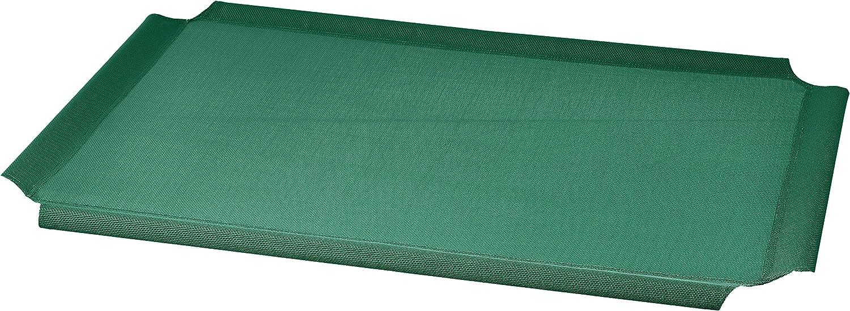 Recambio de cubierta para la cama para mascotas anticalor elevada de AmazonBasics, Mediano, Verde