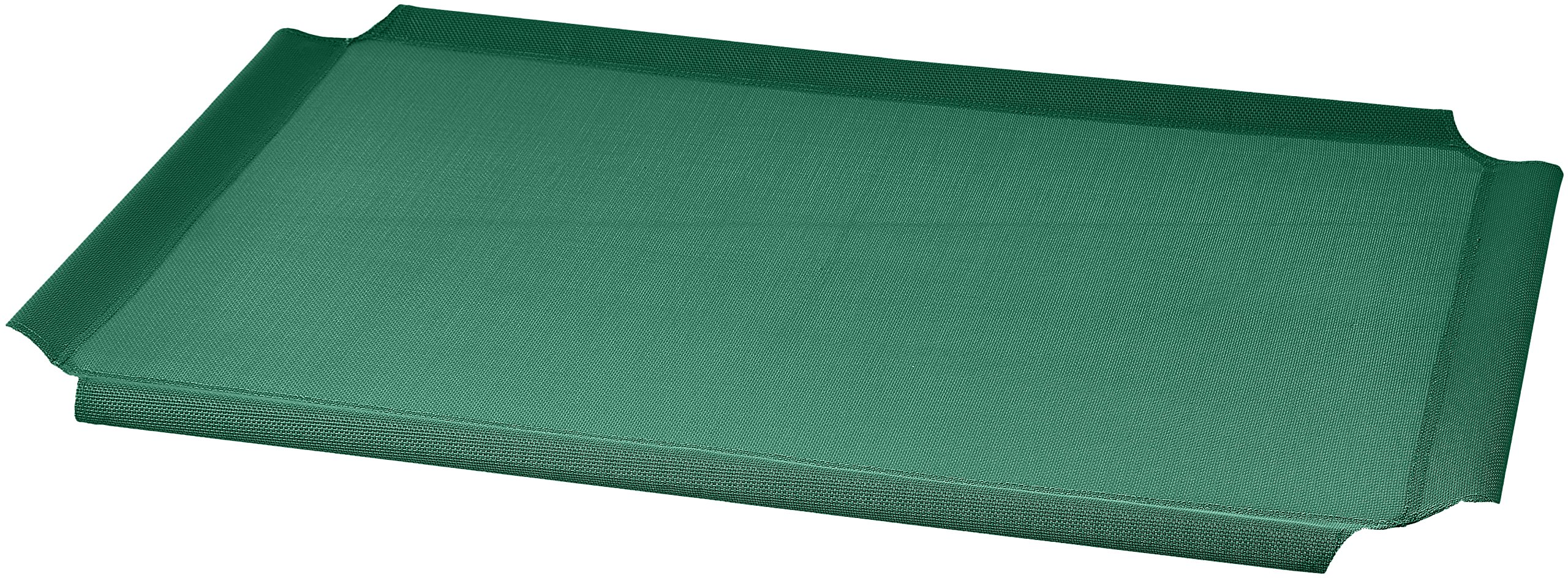 AmazonBasics Elevated Cooling Pet Bed Replacement Cover, M, Green