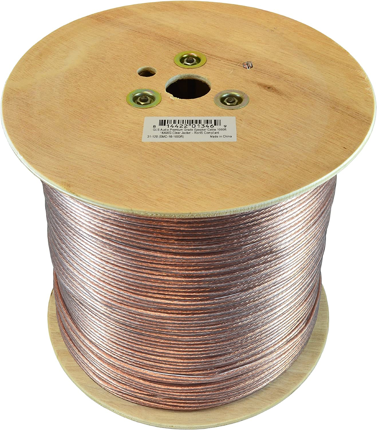 30 Ft  Audiopipe Heavy Duty Clear Jacket 10 Gauge Speaker Cable Wire-Made in USA