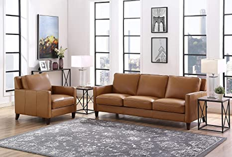 Superb Hydeline Ashby 100 Leather Sofa Set Sofa Chair Cognac Pabps2019 Chair Design Images Pabps2019Com