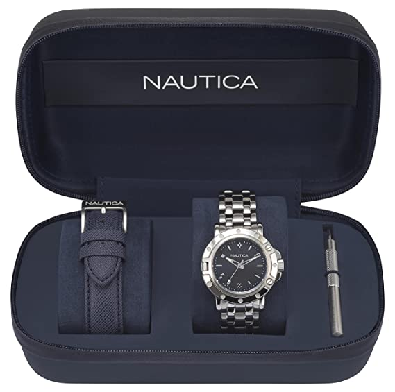 Nautica Reloj Analogico para Mujer de Cuarzo con Correa en Acero Inoxidable NAPPRH010: Amazon.es: Relojes