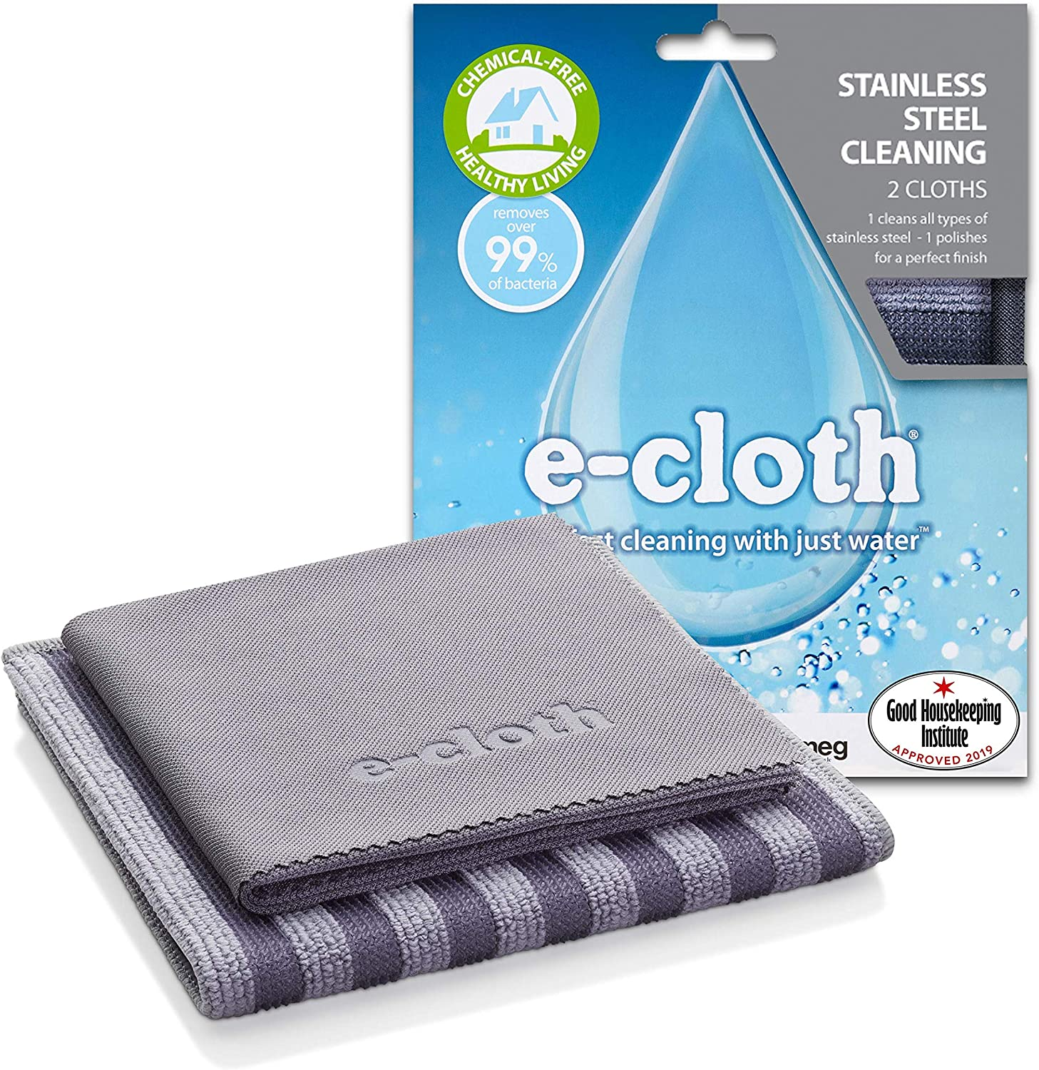 CHEMICAL FREE CLEANING-STAINLESS STEEL CLOTH X 3-FREE SHIPPING E-CLOTH ECLOTH